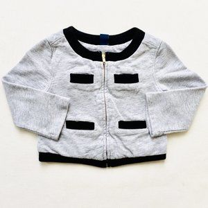 Baby Gap Grey Zip Sweater Military Style